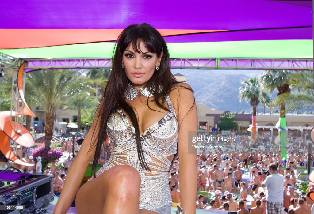 Singer Bleona Qereti attends the SPLASH pool party during Jeffrey Sanker Presents White Party Palm Springs 2013 - Day 2 at the Renaissance hotel on March 30, 2013 in Palm Springs, California.