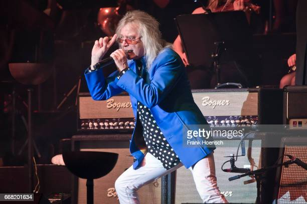 Singer Bob Catley of the British band Magnum performs live during the concert Rock meets Classic at the Tempodrom on April 8 2017 in Berlin Germany
