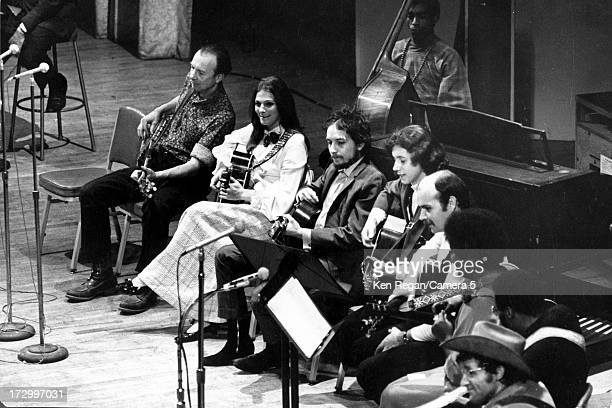 Singer Bob Dylan is photographed at A Tribute to Woody Guthrie concert at Carnegie Hall on January 20 1968 in New York City CREDIT MUST READ Ken...