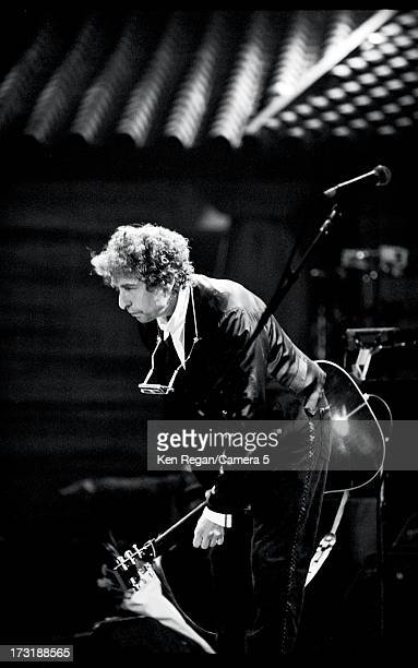 Singer Bob Dylan is photographed at his 30th Anniversary Concert Celebration at Madison Square Garden on October 16 1992 in New York City CREDIT MUST...