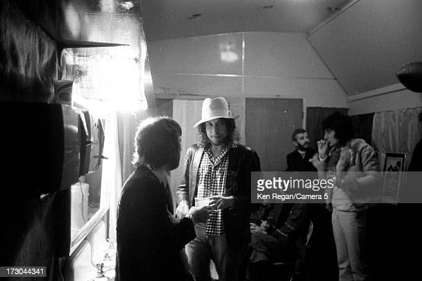 Singer Bob Dylan is photographed backstage of The Last Waltz concert on November 25 1976 in San Francisco California CREDIT MUST READ Ken...