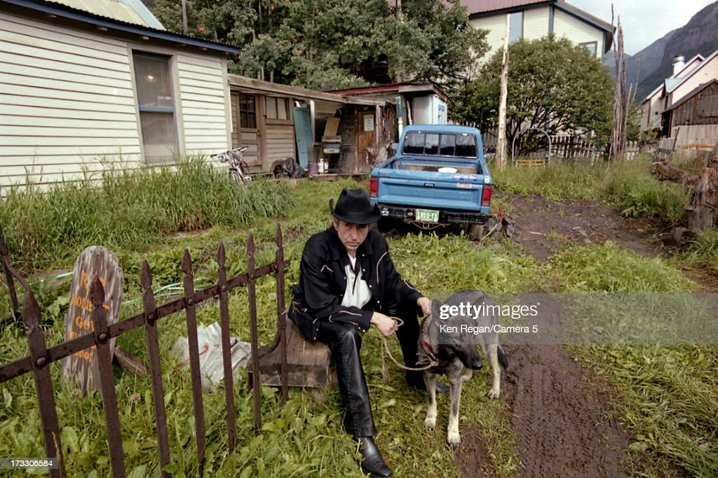 Singer Bob Dylan is photographed in August 2001 in Telluride, Colorado.