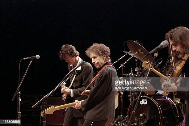 Singer Bob Dylan is photographed in concert in August 2001 in Telluride Colorado CREDIT MUST READ Ken Regan/Camera 5 via Contour by Getty Images