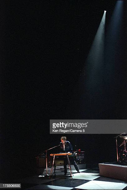 Singer Bob Dylan is photographed in concert in August 2003 at the Hammerstein Ballroom in New York City CREDIT MUST READ Ken Regan/Camera 5 via...
