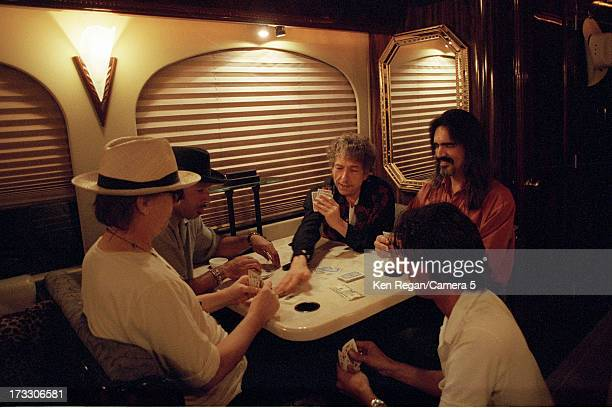 Singer Bob Dylan is photographed with band in August 2001 in Telluride Colorado CREDIT MUST READ Ken Regan/Camera 5 via Contour by Getty Images