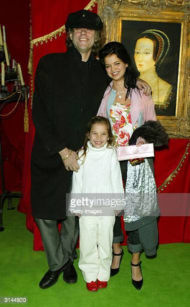 Singer Bob Geldof and daughters Pixie and Tiger Lily arrive at the afterparty for the UK premiere of ScoobyDoo 2 Monsters Unleashed at the Carling...