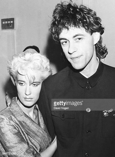 Singer Bob Geldof and his girlfriend presenter Paula Yates at premiere of the film 'Brimstone and Treacle' London September 13th 1982