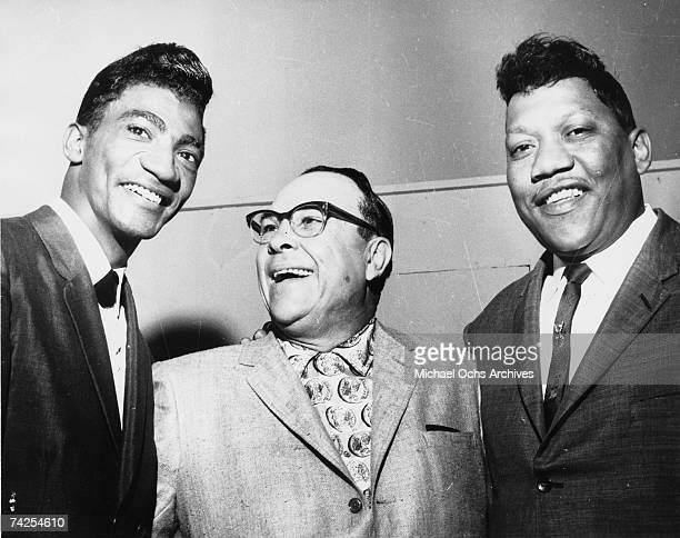 Singer Bobby 'Blue' Bland is joined by fellow artist Al 'TNT' Braggs and Duke/Peacock Records boss Don Robey circa 1964 in Houston Texas