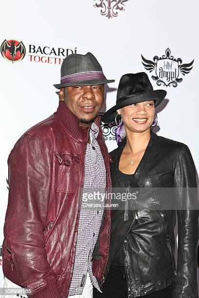 Singer Bobby Brown and Alicia Etheredge arrive at the 7th annual Peapod benefit concert at the Music Box Theatre on February 10 2011 in Hollywood...