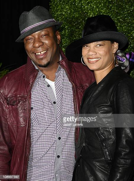 Singer Bobby Brown and Alicia Etheredge attend the 7th annual Peapod benefit concert at The Henry Fonda Theater on February 10 2011 in Hollywood...