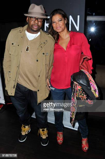 Singer Bobby Brown and Alicia Etheredge attend the NBA AllStar Bowling Classic at Lucky Strike LA Live on February 15 2018 in Los Angeles California