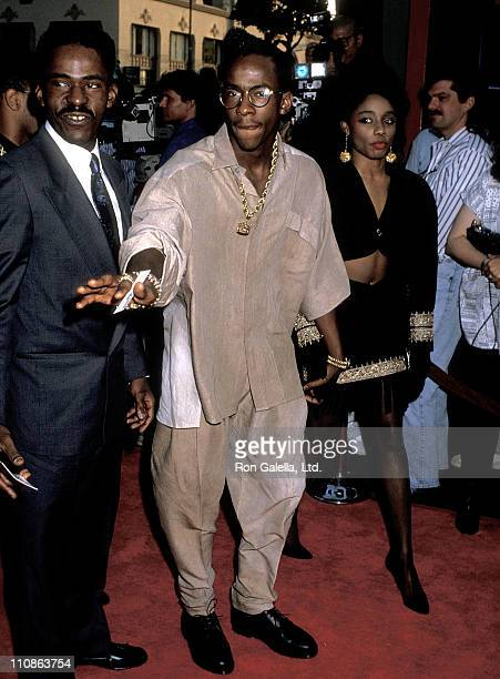 Singer Bobby Brown and date attend Ghostbusters II Hollywood Premiere on June 15 1989 at Mann's Chinese Theatre in Hollywood California