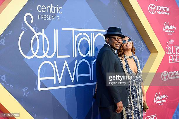 Singer Bobby Brown and producer Alicia Etheredge attend the 2016 Soul Train Music Awards at the Orleans Arena on November 6 2016 in Las Vegas Nevada