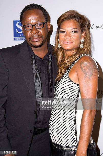 Singer Bobby Brown and wife Alicia Etheredge attend the 13th annual Harold Carole Pump Foundation gala at The Beverly Hilton Hotel on August 9 2013...