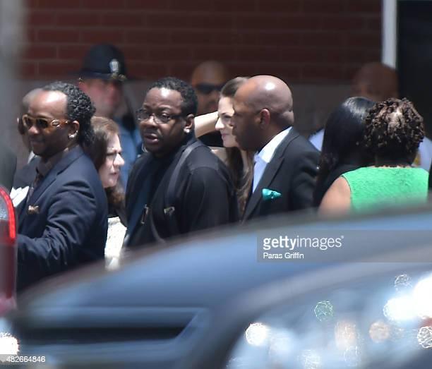 Singer Bobby Brown attends Bobbi Kristina Brown Funeral at St James United Methodist Church on August 1 2015 in Alpharetta Georgia Bobbi Kristina...
