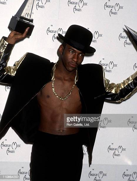Singer Bobby Brown attends the 17th Annual American Music Awards on January 22 1990 at Shrine Auditorium in Los Angeles California