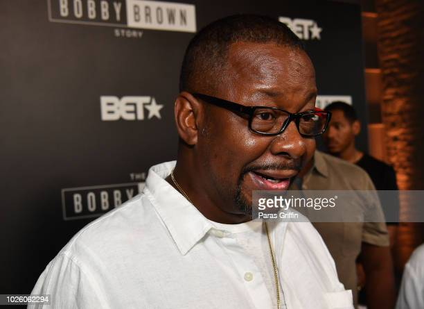 Singer Bobby Brown attends The BobbyQ Atlanta Premiere Of The Bobby Brown Story at Atlanta Contemporary Arts Center on September 1 2018 in Atlanta...