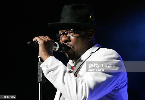 Singer Bobby Brown of New Edition performs at Sprint Center on June 1 2012 in Kansas City Missouri