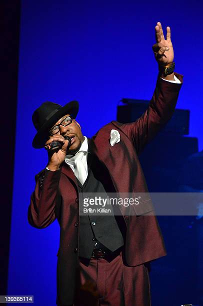 Singer Bobby Brown of the group New Edition performs at NJPAC in Prudential Hall on February 19 2012 in Newark New Jersey