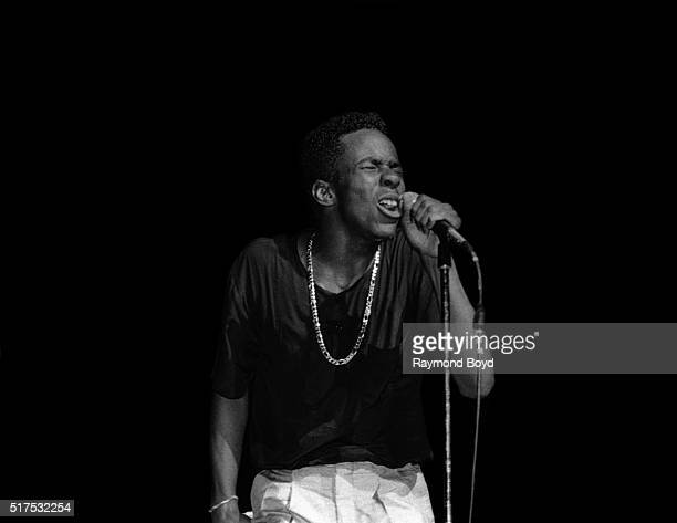 Singer Bobby Brown performs at the Arie Crown Theater in Chicago Illinois in July 1987
