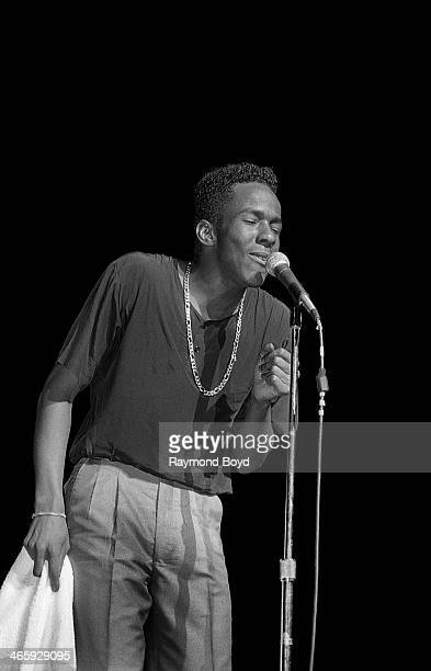 Singer Bobby Brown performs at the Arie Crown Theater in Chicago Illinois on JULY 01 1987