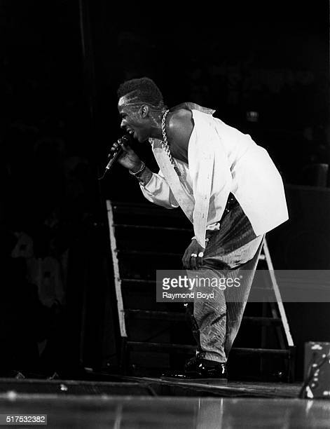 Singer Bobby Brown performs at Market Square Arena in Indianapolis Indiana in May 1989
