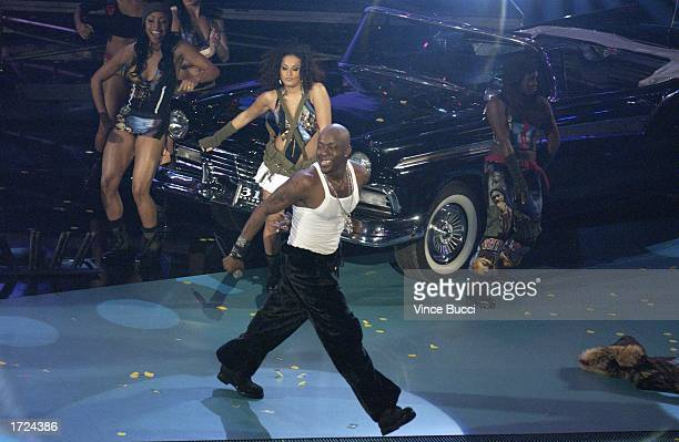 Singer Bobby Brown performs during the 30th Annual American Music Awards at the Shrine Auditorium on January 13 2003 in Los Angeles California
