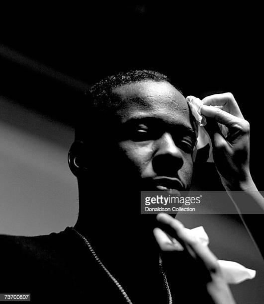 Singer Bobby Brown poses for Entertainment Weekly in 1994 in his studio in Los Angeles California