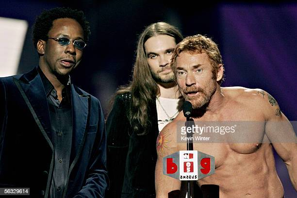 Singer Bobby Brown presents television personality Bo Bice his award for Big Reality Star with actor/nominee Danny Bonaduce onstage at the VH1 Big In...
