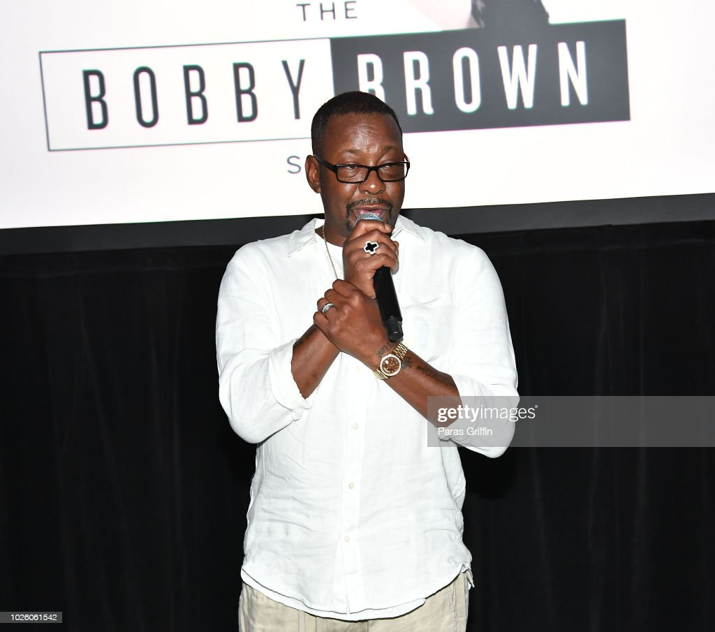 Singer Bobby Brown speaks onstage during The 'Bobby-Q' Atlanta Premiere Of 'The Bobby Brown Story' at Atlanta Contemporary Arts Center on September 1, 2018 in Atlanta, Georgia.