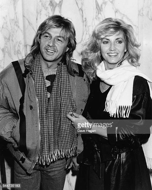 Singer Bobby Gee of the pop band 'Bucks Fizz' with girlfriend Nicholas Martin at the premiere of the movie 'Beverly Hills Cop' London January 25th...
