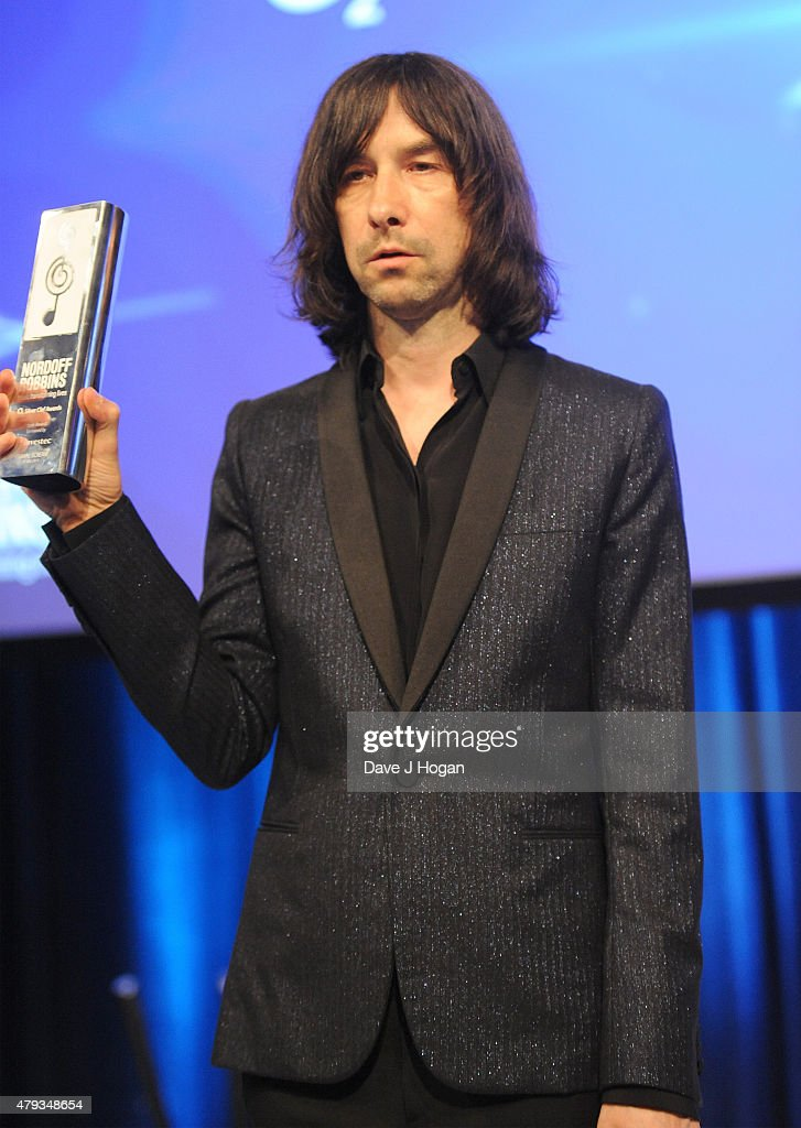 singer bobby gillespie from primal scream winners of the icon award on stage at the - Silver Hotel 2015
