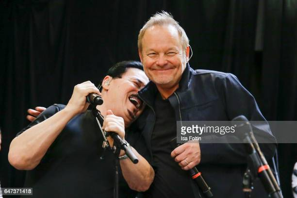 US singer Bobby Kimball and british musician producer and songwriter Nick van Eede during the Mandoki Soulmates Wings Of Freedom Rehearsal on...