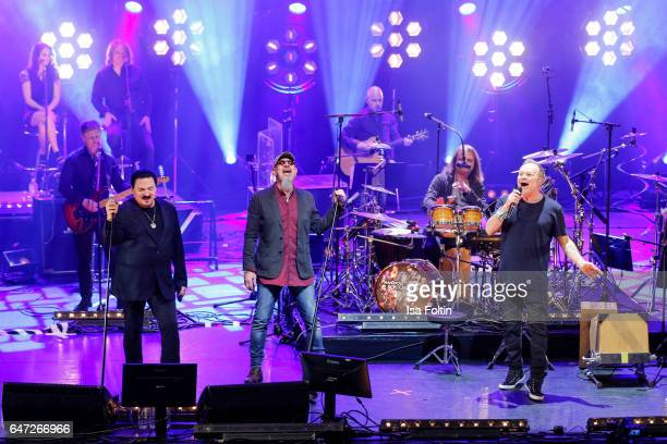 US singer Bobby Kimball british singer guitar player and composer Chris Thompson germanhungarian musician Leslie Mandoki and English musician...