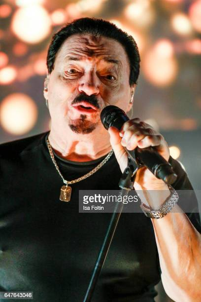 US singer Bobby Kimball performs at the last rehearsal for the concert 'Man Doki Soulmates Wings Of Freedom' at L'Olympia on March 1 2017 in Paris...