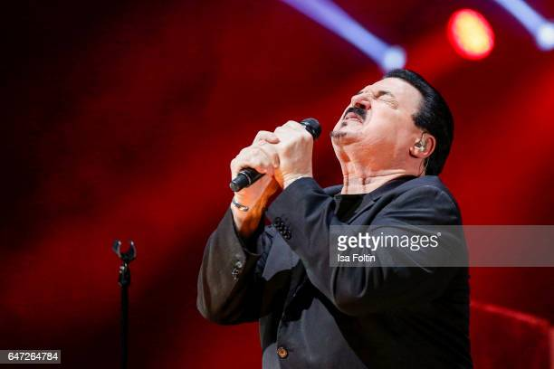 US singer Bobby Kimball performs at the Man Doki Soulmates Wings Of Freedom Concert on March 1 2017 in Paris France