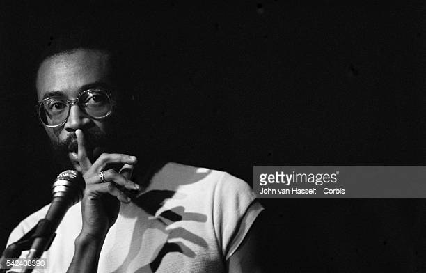 Singer Bobby McFerrin performs at the New Morning club in Paris France