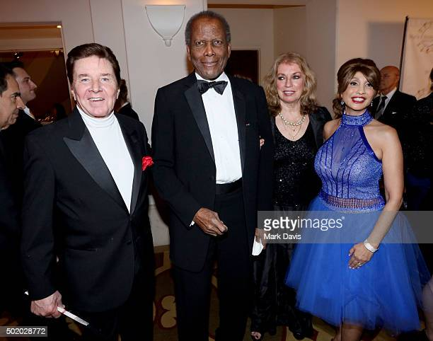 Singer Bobby Sherman, actor Sidney Poitier, Joanna Shimkus, and Brigitte Sherman attend the Brigitte and Bobby Sherman Children's Foundation's 6th...