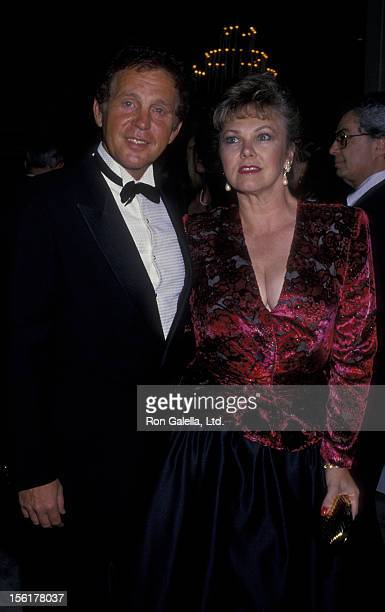 Singer Bobby Vinton and wife Dolly Vinton attend Salute To Hollywood Gala on September 18 1987 at the Beverly Hilton Hotel in Beverly Hills California
