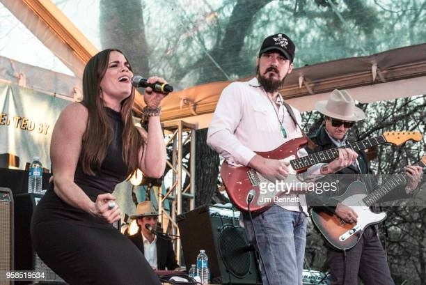 Singer Bonnie Bishop performs live on stage at Ray Benson's 67th birthday party concert benefiting Health Alliance for Austin Musicians during SXSW...