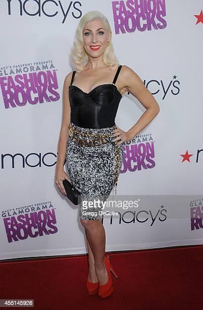 Singer Bonnie McKee arrives at Macy's Passport Glamorama Fashion Rocks at Create Nightclub on September 9 2014 in Los Angeles California