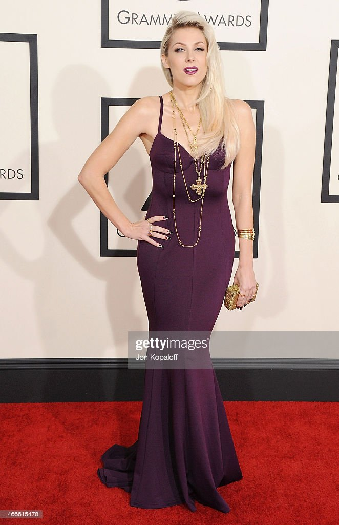 Singer Bonnie McKee arrives at the 57th GRAMMY Awards at Staples Center on February 8, 2015 in Los Angeles, California.