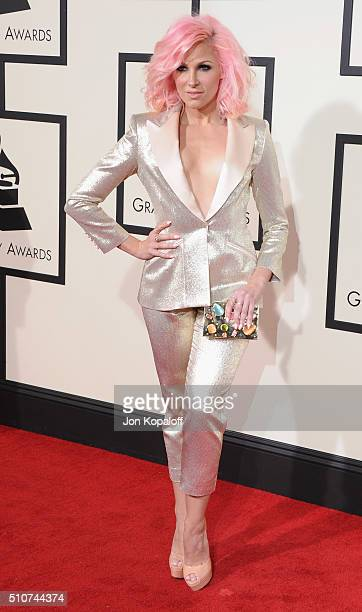Singer Bonnie McKee arrives at The 58th GRAMMY Awards at Staples Center on February 15 2016 in Los Angeles California