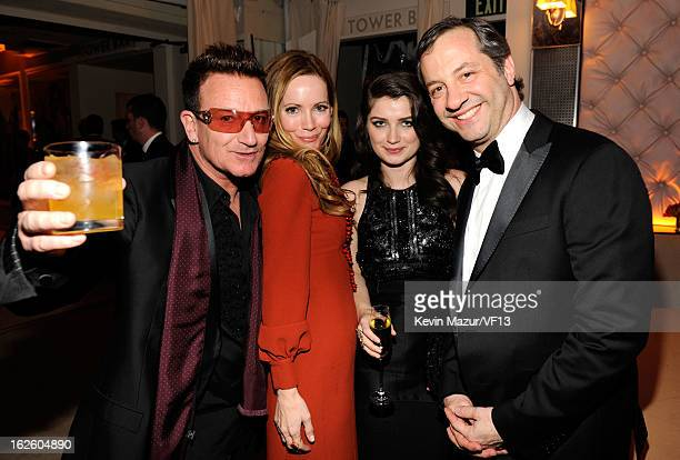 Singer Bono actress Eve Hewson actress Leslie Mann and director Judd Apatow attends the 2013 Vanity Fair Oscar Party hosted by Graydon Carter at...