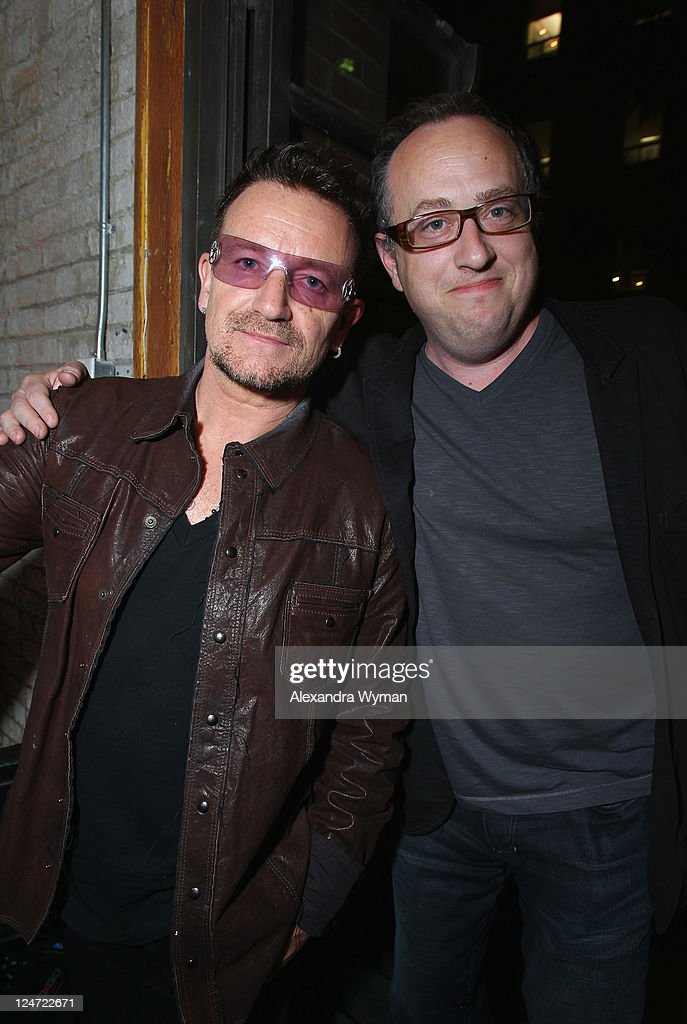 Singer Bono and party guest attend 'A Dangerous Method' party hosted by GREY GOOSE Vodka at Soho House Pop Up Club during the 2011 Toronto International Film Festival on September 10, 2011 in Toronto, Canada.