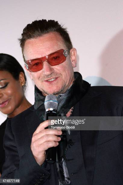 Singer Bono attends the 9th annual Los Angeles Italia Film Fashion and Art Fest opening night ceremony held at the TLC Chinese 6 Theatres on February...