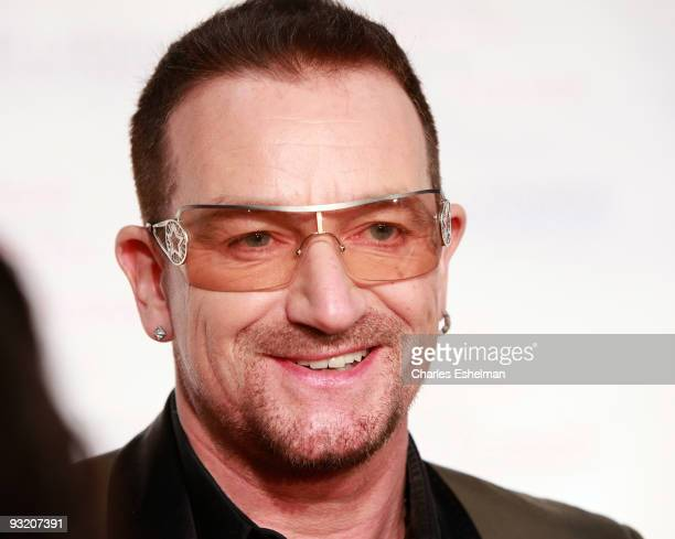 U2 singer Bono attends the RFK Center Ripple of Hope Awards dinner at Pier Sixty at Chelsea Piers on November 18 2009 in New York City