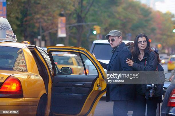 Singer Bono wife Alison Hewso and their sons leave their Upper West Side apartment on October 26 2010 in New York City