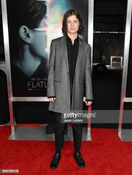 Singer Borns attends the premiere of 'Flatliners' at The Theatre at Ace Hotel on September 27 2017 in Los Angeles California