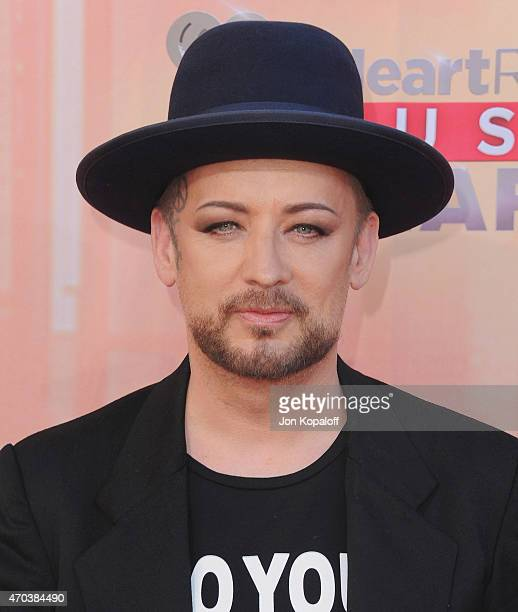 Singer Boy George arrives at the 2015 iHeartRadio Music Awards at The Shrine Auditorium on March 29 2015 in Los Angeles California
